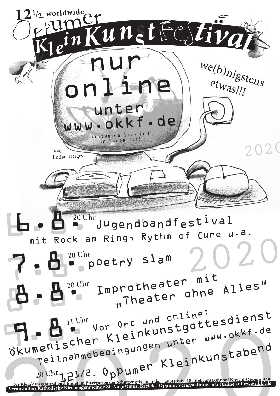 Das Plakat des Oppumer Kleinkunstfestival 2020
